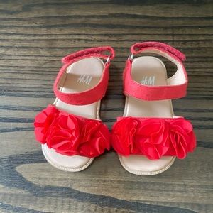 H&M Red Flower Sandal for Baby Walker
